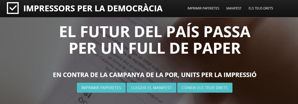 IMPRESSORS PER LA DEMOCRÀCIA