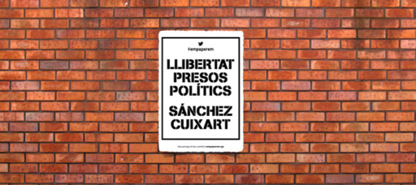 ENCARTELLADA PELS PRESOS POLÍTICS